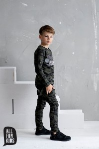 Komplet dres chłopięcy moro All For Kids r. 104/110